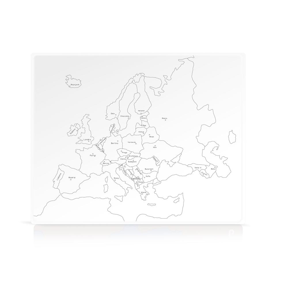 Cartina Europa.Geografia Cartina Di Controllo Europa Parlata Capitali