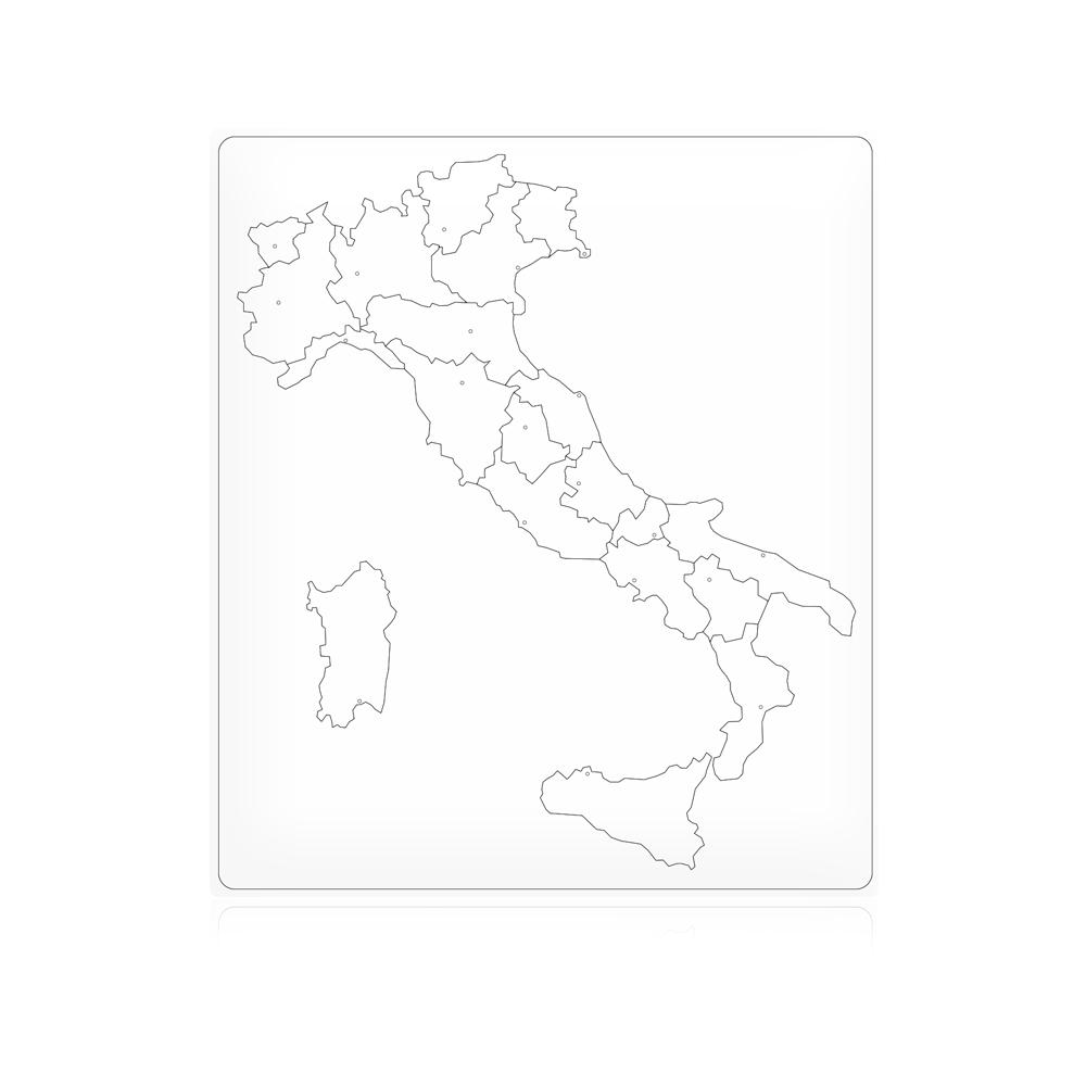 Cartina Politica Italia Capoluoghi.Geografia Cartina Di Controllo Italia Muta Capoluoghi