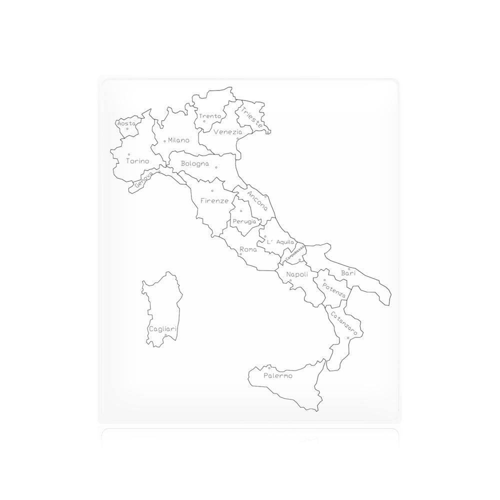Cartina Geografica Italia Capoluoghi.Geografia Cartina Di Controllo Italia Parlata Capoluoghi