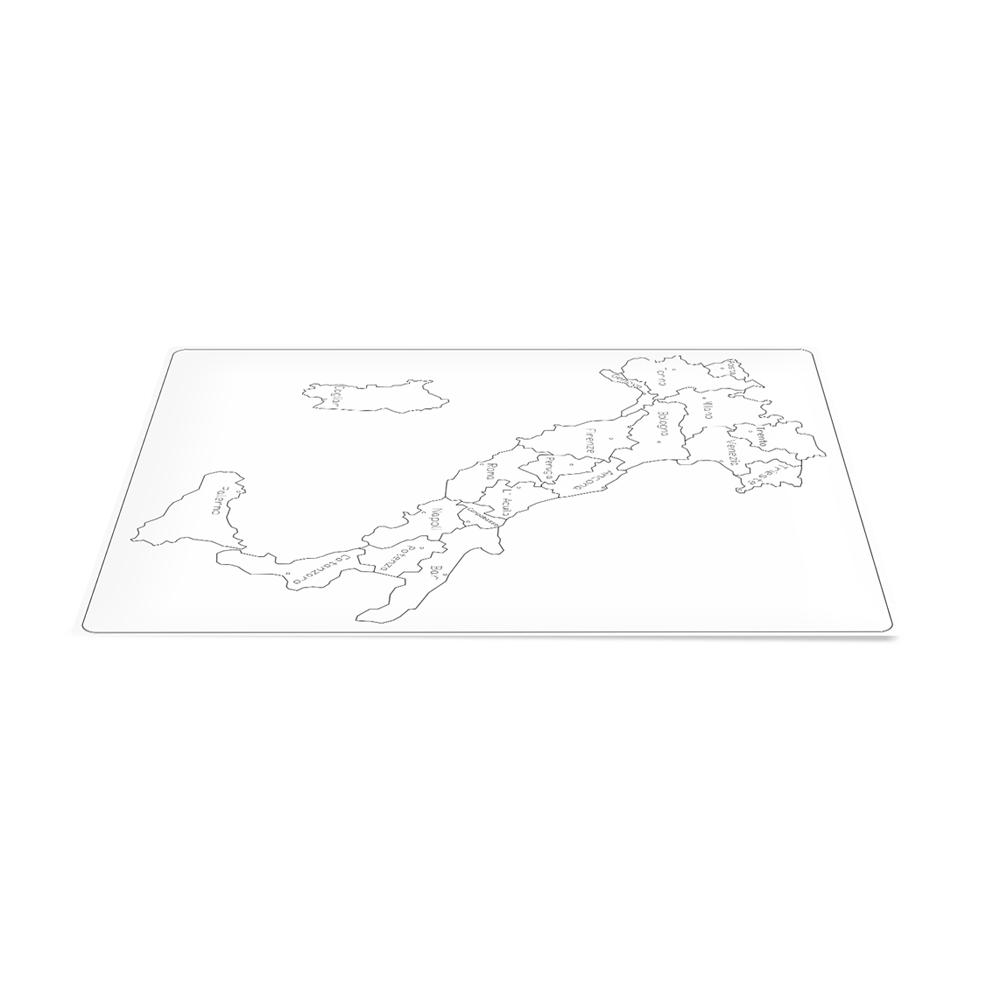 Cartina Muta Italia Capoluoghi.Geografia Cartina Di Controllo Italia Parlata Capoluoghi