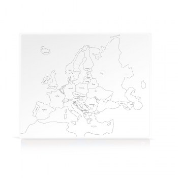 Cartina Con Capitali Europa.Geografia Cartina Di Controllo Europa Parlata Capitali